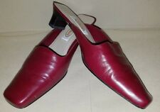 Euc Talbots Butler Sz 7 M slides mules leather shoes burgundy