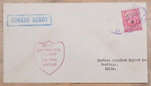 Mayfairstamps Bolivia 1920s First Experimental Flight to Chile Cover wwo86759