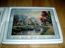 Thomas Kinkade'S Bridges Of Life Lamplight Manor 9th issue Bradford Plate