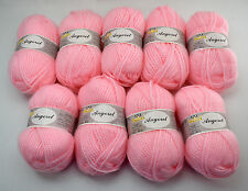 Phentex Angorel Acrylic Bulky Weight Yarn - 9 Skeins Color Candy Floss #53