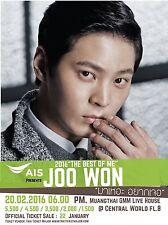 "Joo Won ""The Best Of Me Tour"" 2016 Bangkok Concert Poster -Korean Actor / Singer"