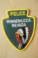 Patches: WINNEMUCCA NEVADA US POLICE PATCH (NEW*apx.11x9 cm)