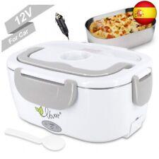 Fiambrera eléctrica comida térmico Lunch Box Fiambreras bento Uso en  (Gris)
