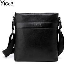 Men Messenger Bag Casual Business Leather Shoulder for Boy Male Travel Crossbody