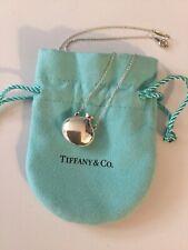 "Tiffany & Co Sterling Silver 925 Elsa Peretti Perfume Bottle Necklace, 18"", 5.8g"