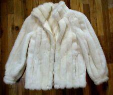 Vintage Jordache Fur Coat Faux Fake 1980s Ivory Off White Womens 5/6 Usa