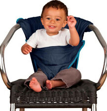 Totseat Adjustable Foldable Lightweight Baby Travel Chair Harness Blue