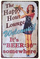 Vintage/Retro Bar & Pub Decorative Indoor Signs/Plaques