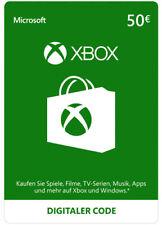 Xbox Live 50 Euro Card Microsoft - MS 50 € Guthaben Xbox 360 XBOX ONE Code Key