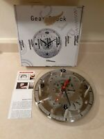 Maple's 12-Inch Moving Gear Wall Clock, Glass Cover (READ DESCRIPTION - DEFECT)