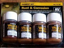 Av vallejo rouille et la corrosion pigment set pour modèles