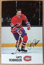 1988-89 LARRY ROBINSON ESSO MINI STICKER CARD MONTREAL CANADIENS