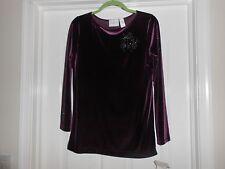950d6a677 LIZ CLAIBORNE LIZ Sport púrpura con Diseño Floral Top Mangas Largas-S -!  nuevo con etiquetas!