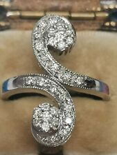 18 carat white gold  1 carat diamond  heavy ring 8.4 g hallmarked