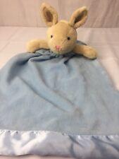 "Back to Basics Bunny Rabbit Blue Lovey Security blanket Large 29"""