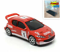 Majorette Peugeot 206 WRC Racing no.1 Red V Mag 1/57 205B no PackageNew in Box