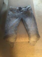 Mens True Religion Slim Jeans - Size 40 Gray w/ Drawstring Waist