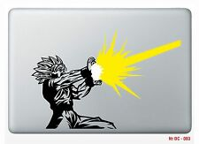 "1 pc Apple Macbook air 13"" Sticker Black and Yellow Dragon ball Z Die cut GOKU"