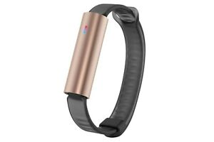 Misfit Ray GOLD ROSE - Fitness + ACTIVITY+ Sleep Tracker with Sport BLACK BAND