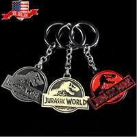 US! Dinosaur Figure Keyring Keychain Gifts Collect Logo Key Ring Pendant