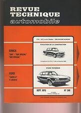 (29A) REVUE TECHNIQUE AUTOMOBILE  FORD CAPRI 2 / SIMCA 1301 1501