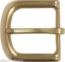 "SOLID BRASS SINGLE PRONG HORSE SHOE STYLE BUCKLE FOR 1 1/2"" WIDE BELTS (38mm)"