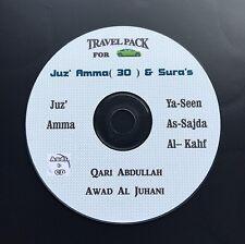 Al Quran audio CD for cars-Juz Amma, Yaseen,kahf..-Qari -Abdullah Awad Al Juhani
