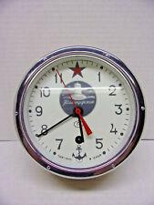 Authentic Vostok Russian Submarine Clock W / Original Box Bottom Paper & Key