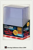 """Ultra Pro 3""""x4"""" 130 Point NEW Top Loaders Pack Of 10-Fit THICK NRL cards"""