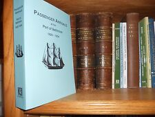 Passenger Arrivals at The Port of Baltimore 1820-1834 Genealogy History NEW