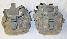 Us Military Surplus 1 Quart Canteen Pouch, General Purpose, Set of 2, Acu, Molle
