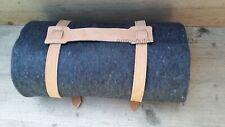 Biwakdecke grau 200 x 150 cm Pferdedecke Picknickdecke mit Leder Tragriemen NEU