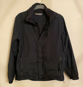 Mens Peter Storm Performance Waterproof Jacket Medium Used Black Navy Blue