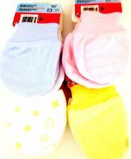 2 pairs baby scratch mittens 100 % cotton newborn 0-3 months.