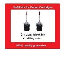2x refill kits for Canon PG-37 PG37 PG-40 & PG-50 ink Cartridges