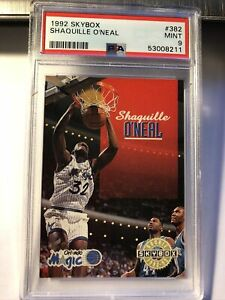 1992 Skybox Shaquille O'Neal #382 Orlando Magic HOF RC Rookie PSA 9 Mint