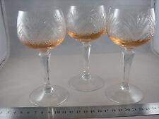 Römer Weinglas Überfangglas Kristallglas Stängelglas Sammelglas alt zart gefärbt