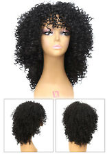 Medium Long Afro Kinky Curly Wig Synthetic wigs