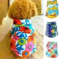Pet Dog Puppy Floral T-Shirt Hawaiian Shirt Pet Summer Outdoor Beach Clothes US