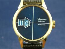 Vintage Lucerne Jump Hour Swiss Watch Circa 1970s New Old Stock