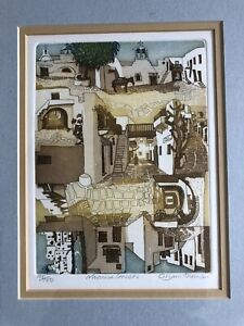 "GLYNN THOMAS R.E. b1945 Limited Edition ETCHING ""Naoussa Streets"" 95/100"
