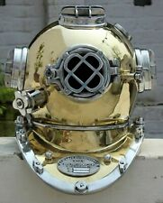 Vintage Scuba Morse Copper Diving Helmet Maritime Boston Divers Navy Mark Divers