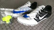 New Nike Zoom JA Fly2 Track Spike Mens 15 White/Black/Blue 705373 100 Unisex