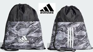 adidas Training 3 Stripes Sports Unisex Gym Sack  Sport Bag *NEW