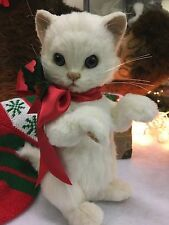 R John Wright brand new Christmas Kitten Holly IN STOCK ACTUAL PHOTOS LE186/250