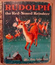 Rudolph Red Nosed Reindeer Little Golden Book 1975 HB VINTAGE Christmas Holidays
