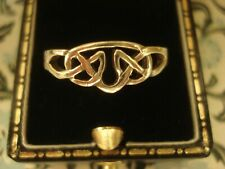Superb &,Finely Crafted Sterling Silver: Celtic Interwoven Design Unisex Ring