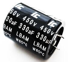 330uF 450V Radial Electrolytic Capacitors Snap In (10 pcs) 337LBA450M2EF