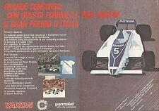 X0577 YAXON Formula 1 - Parmalat - Pubblicità del 1980 - Vintage advertising