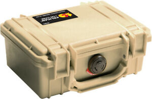 Desert Tan Pelican ™ 1120 Case with Foam includes FREE Custom Engraved Nameplate